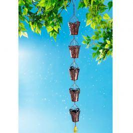 Dešťový řetěz kyblíčky