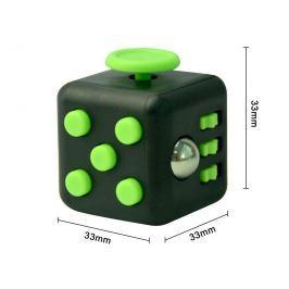 Fidget Cube - antistresová kostka černozelená