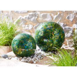 Dekorační mozaiková koule zelená, malá