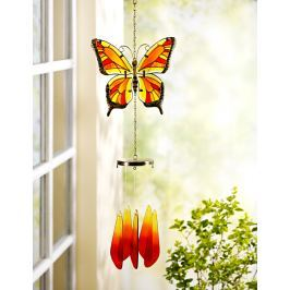 Skleněná větrohra Motýl