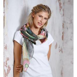 Maxi šátek CIRCLE barevný,180 x 90 cm
