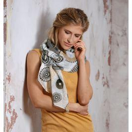 Maxi šátek CIRCLE přírodní, 180 x 90 cm