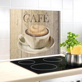 Skleněná deska za sporák Café, 60 x 50 cm