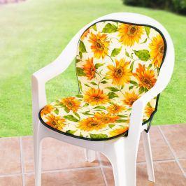 Podsedák na zahradní židli Slunečnice Dekorace do zahrady