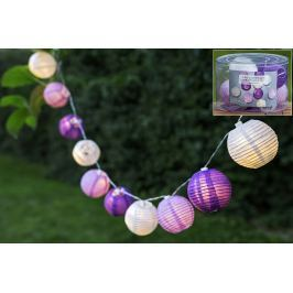 Řetěz s 10 LED lampionky, mix barev