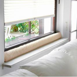 Okenní ochrana proti průvanu 100 cm, světle hnědá