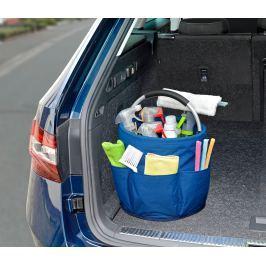Organizér na čistící potřeby modrý