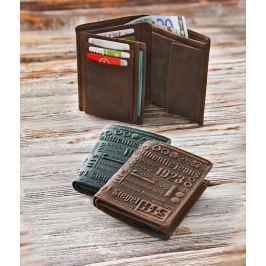 H.I.S. Kožená peněženka Bogota, hnědá