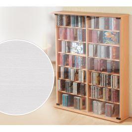 CD skříňka Roma, bílá