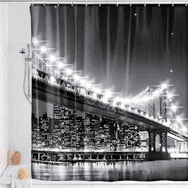 LED sprchový závěs Brooklynský most