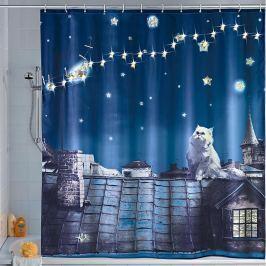 LED sprchový závěs Kočka