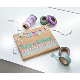 Dekorační lepící washi pásky, sada 20 ks