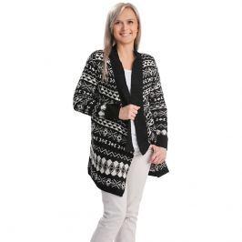 Dlouhý vzorovaný svetr, černobílý, vel. L/XL