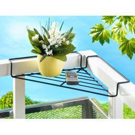 Balkónová rohová polička