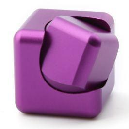 Spinner Cube - kovová antistresová kostka fialová