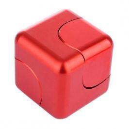 Spinner Cube - kovová antistresová kostka červená
