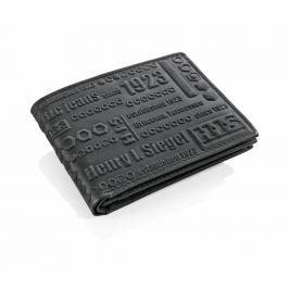 HIS pánská kožená peněženka, černá
