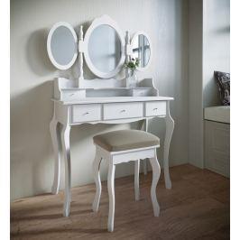 Toaletní stolek Agawina, bílý