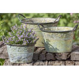 Dekorační květináč Olive plechový, sada 3 ks