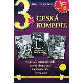 """3x Česká komedie: Hostinec """"U kamenného stolu"""" + Vzorný kinematograf Haška Jaroslava + Florenc 13,30"""