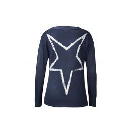 Dlouhý jemný svetr s šálovým límcem, tmavě modrý, vel. XL