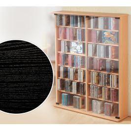 CD skříňka Roma, černá