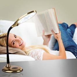 LED stolní lampa s denním světlem, mosaz