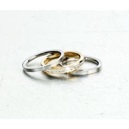 Sada prstenů z ušlechtilé oceli Eleganz, 3 ks, vel.19