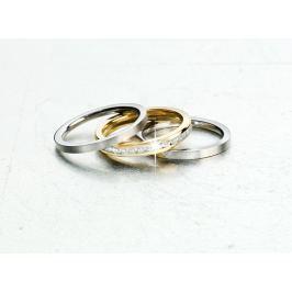 Sada prstenů z ušlechtilé oceli Eleganz, 3 ks, vel.20