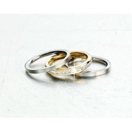 Sada prstenů z ušlechtilé oceli Eleganz, 3 ks, vel. 21