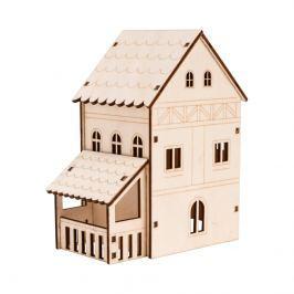 LED Dřevěná zimní vesnička - Velký domek