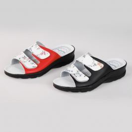 Pantofle Modena, červené, vel. 38