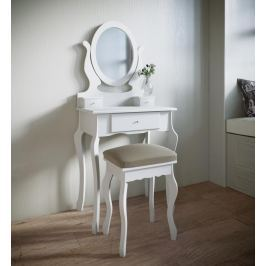 Toaletní stolek Angeluna, bílý