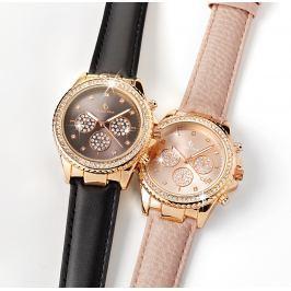 Dámské elegantní hodinky, černé