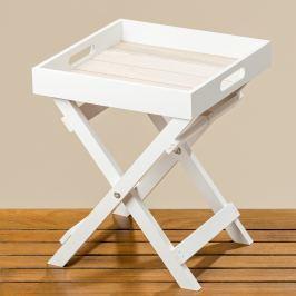 Dekorační stolek bílý