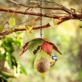 Závěs na krmení pro ptáky Podzimní listy