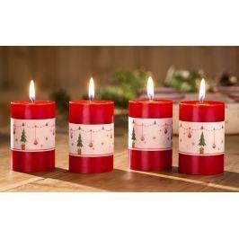 Svíčky Veselé Vánoce, 4 kusy