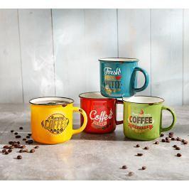 Retro hrnky na kávu, 4 ks