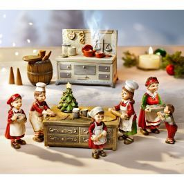 Dekorace Vánoční pekárna s hracím strojkem
