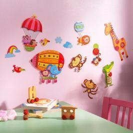 Samolepky na zeď Zvířátka, 2 sady Kreativní, tvoření