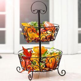 Košík na ovoce dvoupatrový