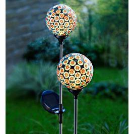 Solární zahradní zápich Květinová mozaika, 2 ks