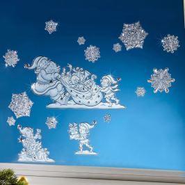 3D okenní dekorace Vánoce, 16 dílů