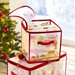 Organizér na vánoční  ozdoby, na 64 kusů