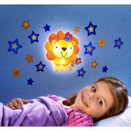 Nástěnné světlo Lvíček ve hvězdách