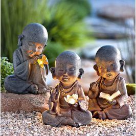 Solární figurky Mniši, sada 3 ks
