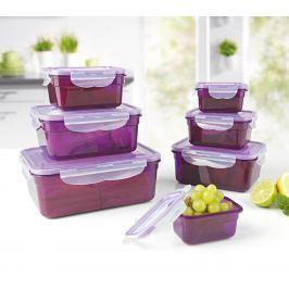 GOURMETmaxx dózy na potraviny, 14 dílná sada, lila