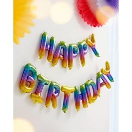 Nafukovací nápis Happy Birthday