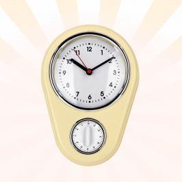 GOURMETmaxx Retro Nástěnné hodiny s minutkou