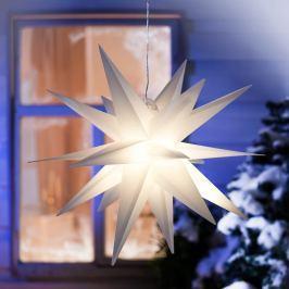 LED Venkovní hvězda Vánoce, bílá